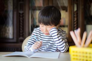 勉強をする少年の写真素材 [FYI01164414]