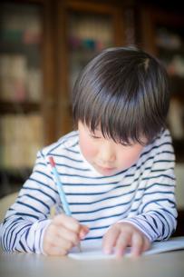 勉強をする少年の写真素材 [FYI01164421]