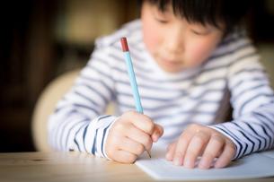 勉強をする少年の写真素材 [FYI01164422]