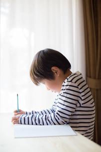 勉強をする少年の写真素材 [FYI01164424]