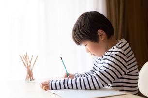 勉強をする少年の写真素材 [FYI01164426]