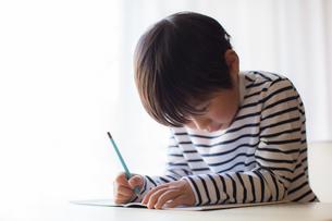 勉強をする少年の写真素材 [FYI01164433]