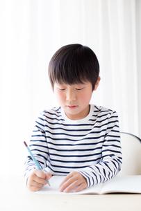 勉強をする少年の写真素材 [FYI01164449]