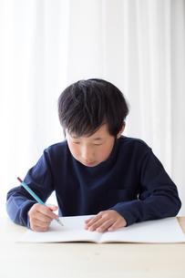 勉強をする少年の写真素材 [FYI01164454]