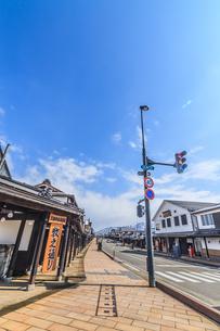春の塩沢宿の風景の写真素材 [FYI01164741]