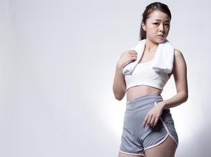 女性フィットネスイメージの写真素材 [FYI01166343]