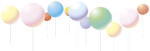 風船のタイトルバックのイラスト素材 [FYI01166517]