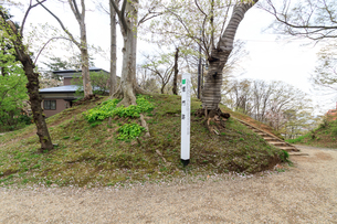 春の久保田城の埋門跡の風景の写真素材 [FYI01166519]