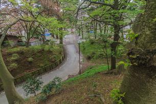 春の久保田城の風景の写真素材 [FYI01166530]