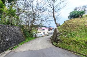 春の久保田城の風景の写真素材 [FYI01166535]