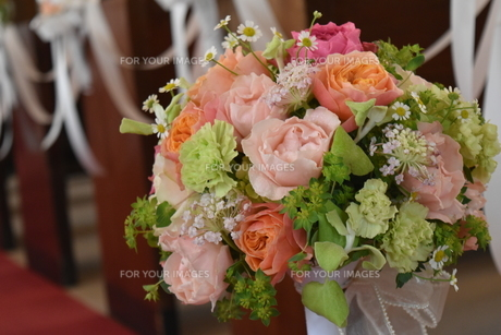 結婚式のブーケの写真素材 [FYI01166667]