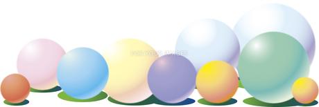 カラーボールの背景のイラスト素材 [FYI01166764]