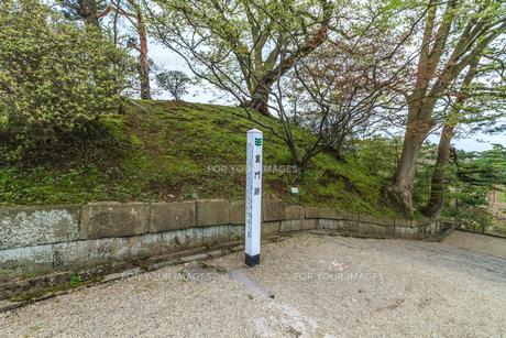 春の久保田城の裏門跡の風景の写真素材 [FYI01166859]