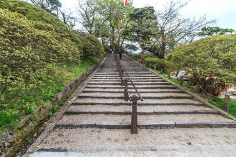 春の久保田城の風景の写真素材 [FYI01166860]