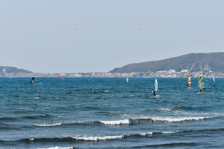 館山湾のウィンドサーフィンの写真素材 [FYI01167183]