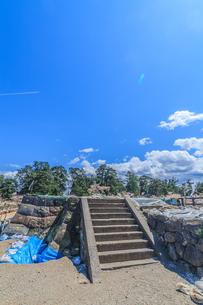 移転後の弘前城の春の天守台の風景の写真素材 [FYI01167378]