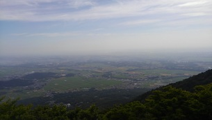 筑波山からの曇り空①の写真素材 [FYI01167431]