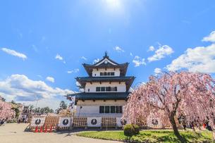 移転後の弘前城の天守の風景の写真素材 [FYI01167580]