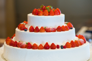 いちごのケーキの写真素材 [FYI01167593]