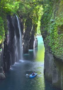 初夏の滝(宮崎県 高千穂峡 真名井の滝)の写真素材 [FYI01167646]
