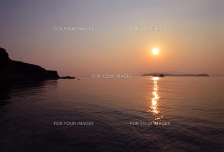 加太瀬戸内海国立公園の夕暮の写真素材 [FYI01167655]