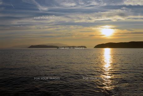 加太瀬戸内海国立公園の夕暮の写真素材 [FYI01167656]