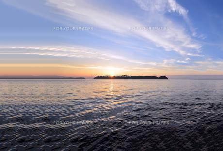 加太瀬戸内海国立公園の夕暮の写真素材 [FYI01167657]