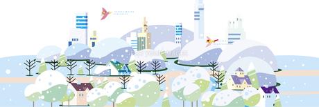 四季のある街並み_冬のイラスト素材 [FYI01168091]