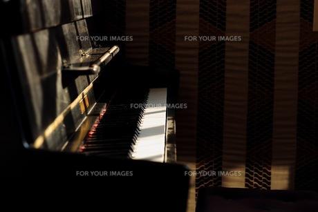 照らされるグランドピアノの写真素材 [FYI01168147]