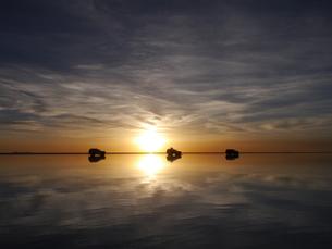 ウユニ塩湖の写真素材 [FYI01170115]