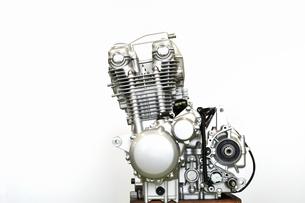 大型バイクのエンジンの写真素材 [FYI01170120]