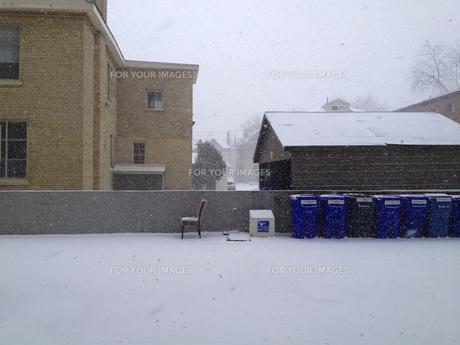 風景 背景 冬 冬景色 雪 雪景色 屋外 海外 北米 カナダ オンタリオ ロンドンの写真素材 [FYI01170538]