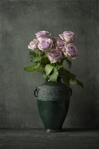 花瓶に挿した8本のばらの写真素材 [FYI01171821]