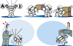 人工知能とロボットのイラスト素材 [FYI01172118]