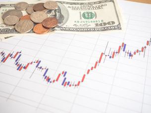お金 投資 株価チャートの写真素材 [FYI01172343]