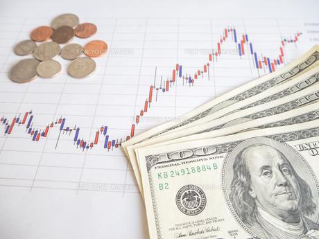 お金 投資 株価チャートの写真素材 [FYI01172345]