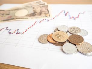 お金 投資 株価チャートの写真素材 [FYI01172350]