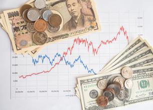 お金 投資 株価チャートの写真素材 [FYI01172356]