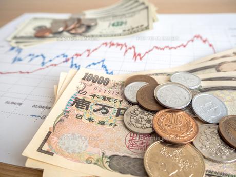 お金 投資 株価チャートの写真素材 [FYI01172359]