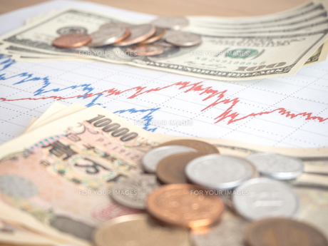 お金 投資 株価チャートの写真素材 [FYI01172362]