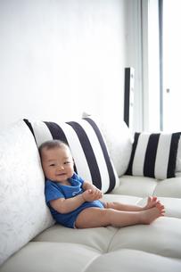 赤ちゃん(8ヶ月)の笑顔の写真素材 [FYI01173018]