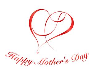 母の日|リボンハート シンボルのイラスト素材 [FYI01173043]