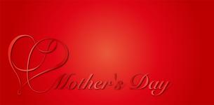 母の日|リボンハート シンボルのイラスト素材 [FYI01173045]