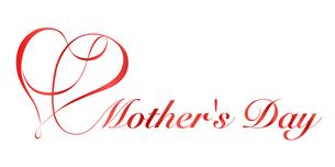 母の日|リボンハート シンボルのイラスト素材 [FYI01173046]