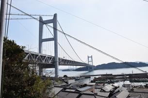 下津井からの瀬戸大橋の写真素材 [FYI01175303]
