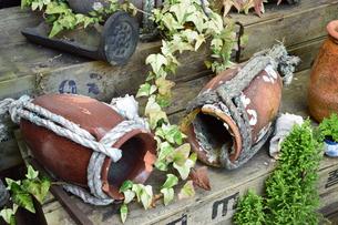 岡山県下津井の蛸壺の写真素材 [FYI01175307]
