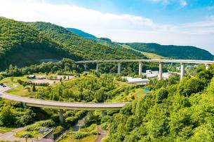 ループ橋(朝里スカイループ)北海道小樽市朝里の写真素材 [FYI01175657]