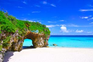 真夏の宮古島。砂山ビーチの写真素材 [FYI01175928]