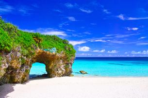 真夏の宮古島。砂山ビーチの写真素材 [FYI01175932]