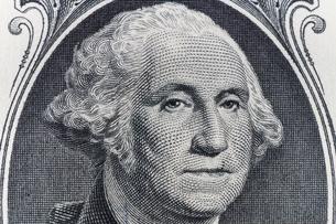 1ドル紙幣 ワシントンの写真素材 [FYI01175949]